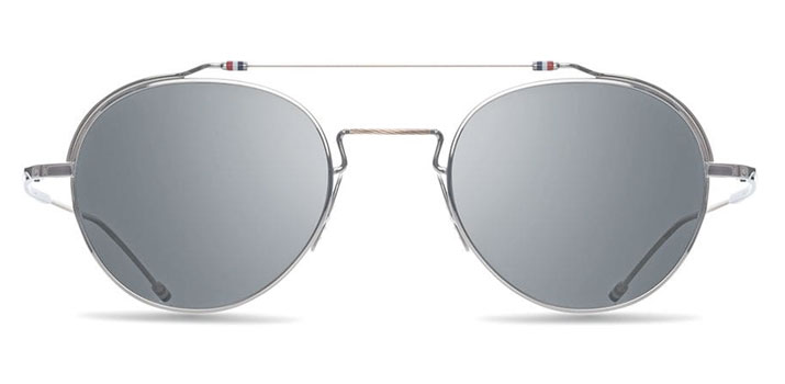 Thom Browne Glasses in London Silver & White Gold