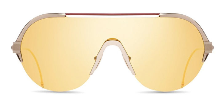Thom Browne Glasses in London white gold and red