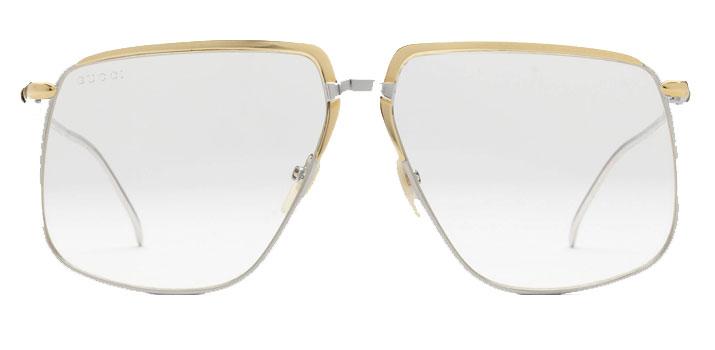Gucci Glasses in London square face metal