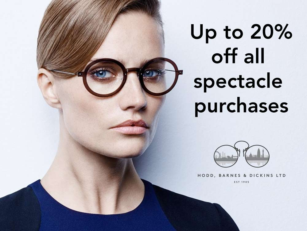 discount on spectacle purchases
